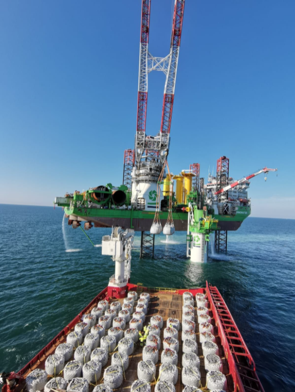 DEME Drills XL Monopile into French Seabed