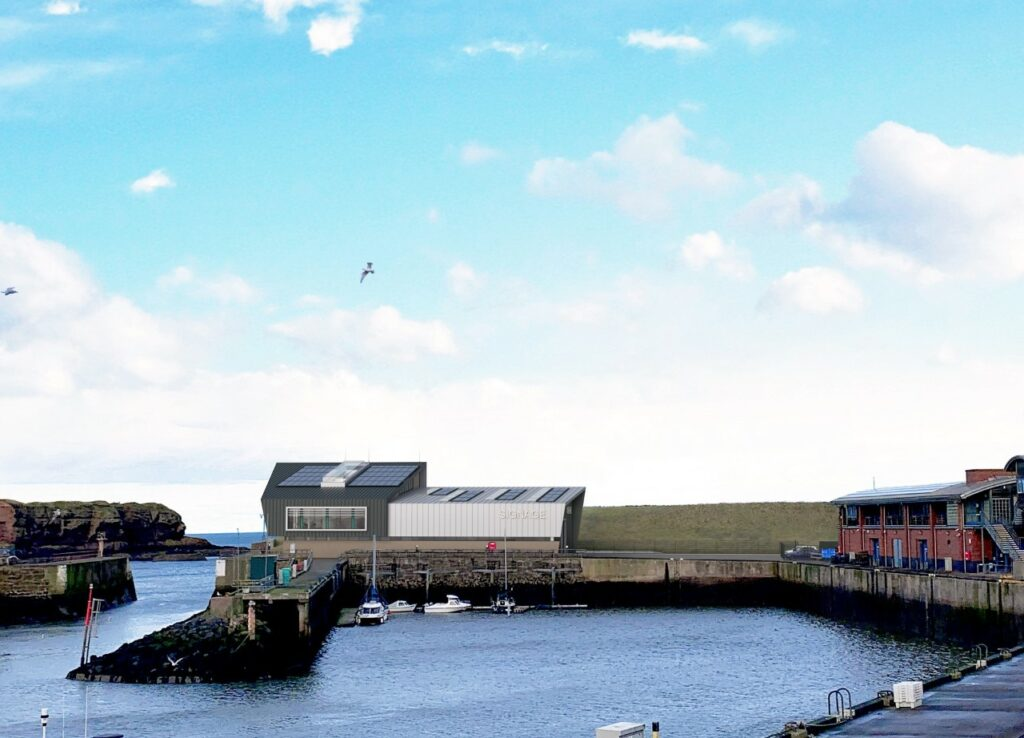 A rendering of the NnG O&M base.