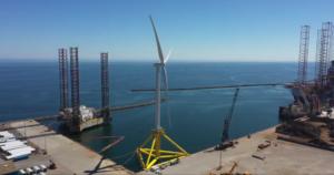 TetraSpar Demonstrator Floating Wind Turbine Stands Complete