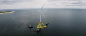 TetraSpar Floater En Route to Site Offshore Norway