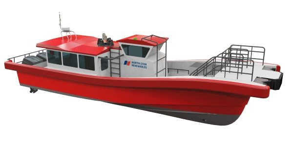 An image of North Star Renewables' hybrid daughter craft vessel