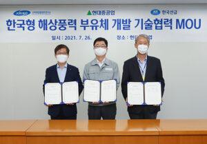 Hyundai Heavy Develops Floater for 10 MW Wind Turbines