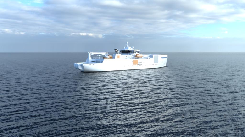 Orange Marine's Cable Laying Ship