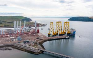Jacket Kit for Deepest Wind Farm Starts Arriving in Scotland