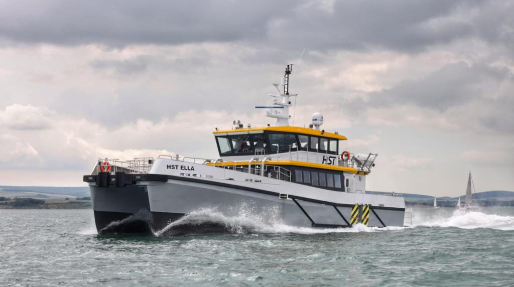 HST Ella during sea trials