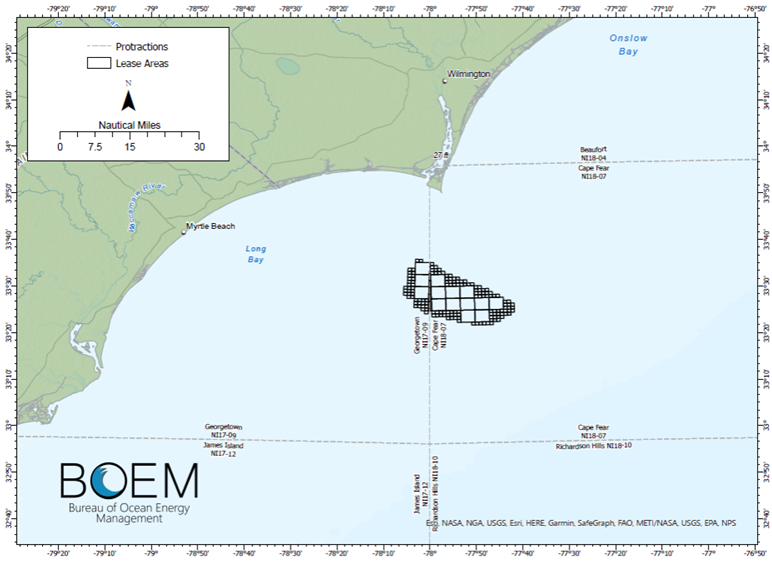 BOEM Mulls Wind Area Lease Sale Offshore the Carolinas