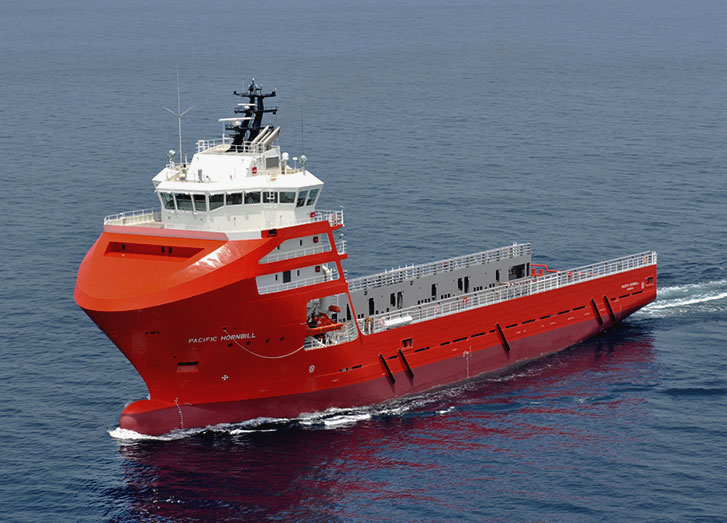 A photo of Swire Pacific Offshore's platform supply vessel Pacific Hornbill at sea