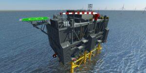KenzFigee Crane for Sofia OWF's Offshore Converter Platform
