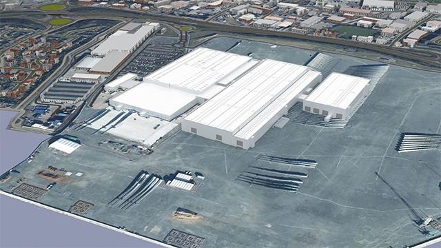 An image rendering Siemens Gamesa's new blade manufacturing site in Hull, UK