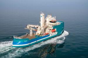 A photo of the Acta Auriga vessel at sea