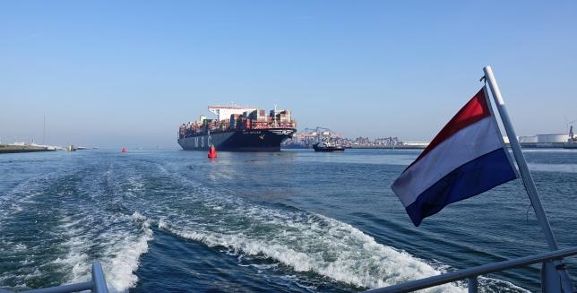 Containerschip 'MSC MIRJAM'. Foto, Kees Torn, Havenbedrijf Rotterdam.