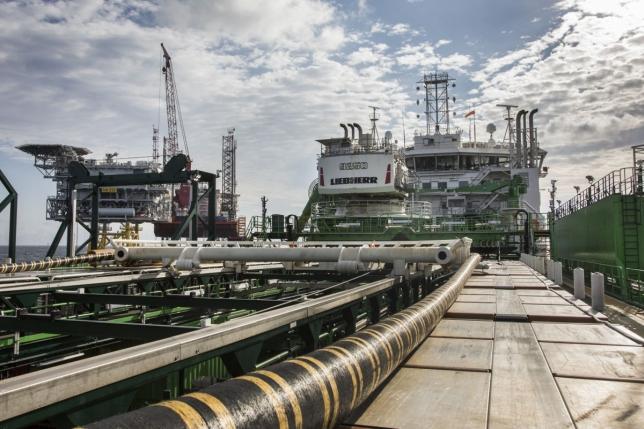 Exportkabel voor Hornsea One windpark aan boord van Living Stone van Tideway. Foto, Deme.