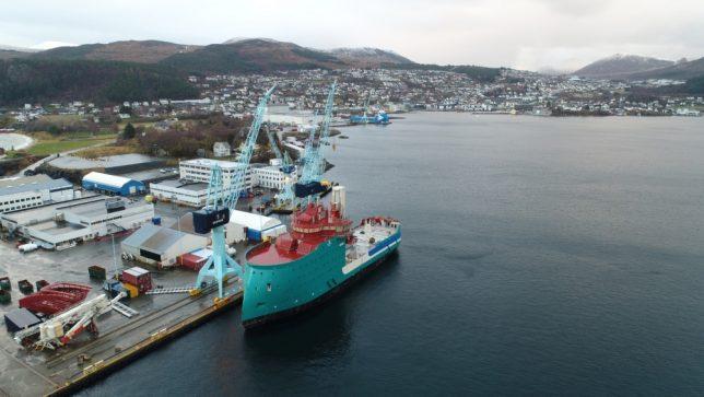 Acta Centaurus aangekomen in Noorwegen. Foto, Acta Marine.