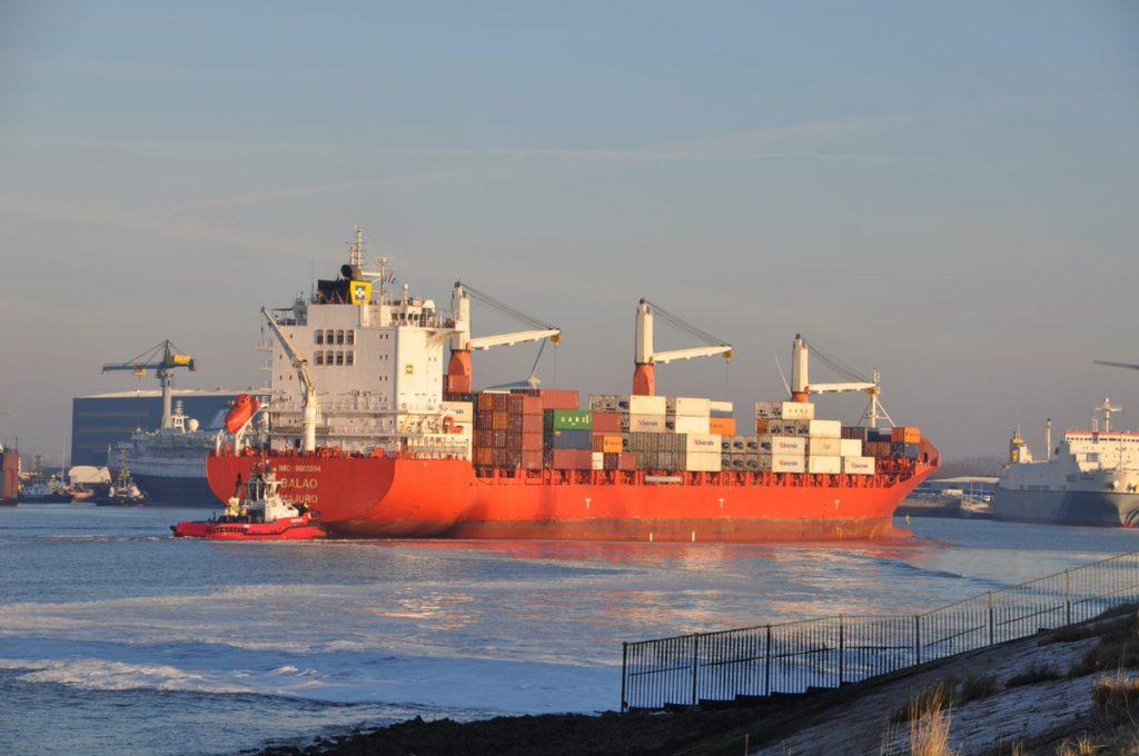 Balao komt aan in Vlissingen. Eerste aankomst van lijndienst met Zuid-Amerika. Foto, Adri van de Wege, North Sea Port.