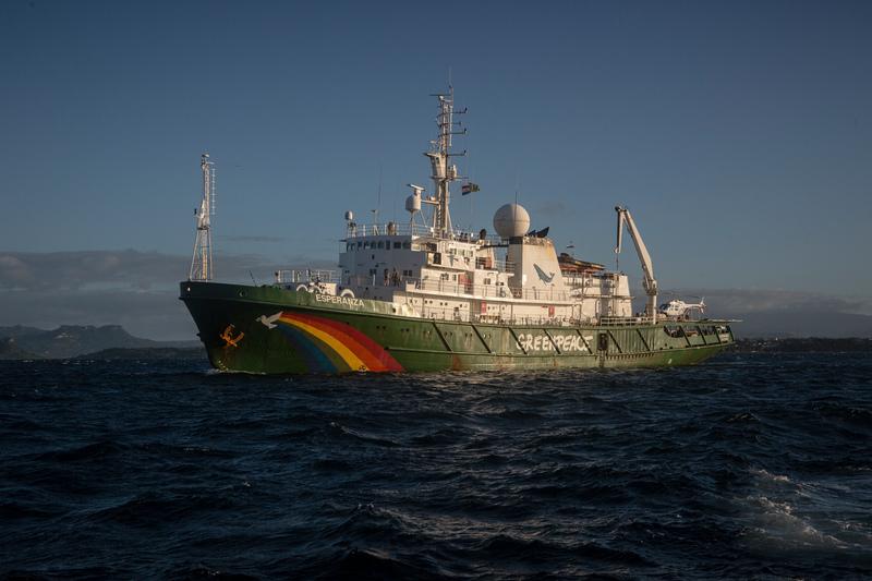 De 'Esperanza' van Greenpeace is open voor publiek zaterdag. Foto, Greenpeace.
