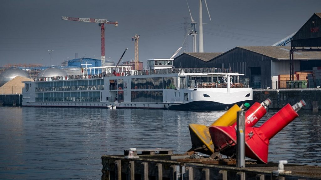 Riviercruiseschip 'Viking Mimir' in Gent. Foto, North Sea Port.