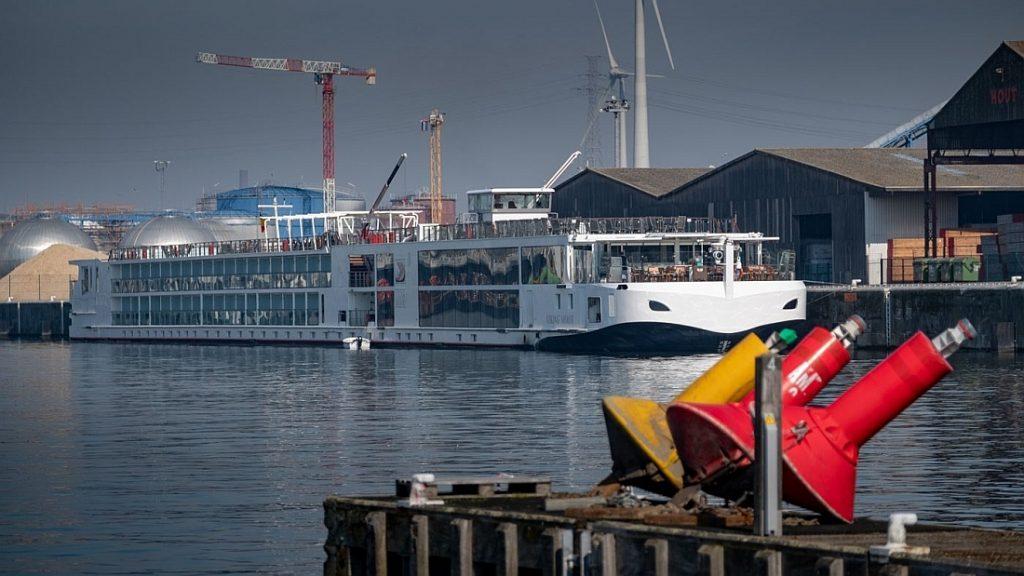 Riviercruiseschip 'Viking Mimir' in Gent. Foto, North Sea Port.