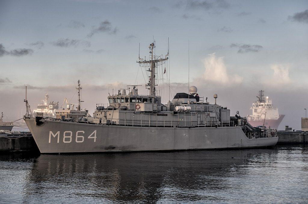 Mijnenjager Zr. Ms. Willemstad. Foto, Defensie.