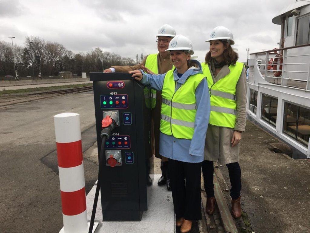Walstroom officieel in gebruik genomen in Gent. Foto, North Sea Port