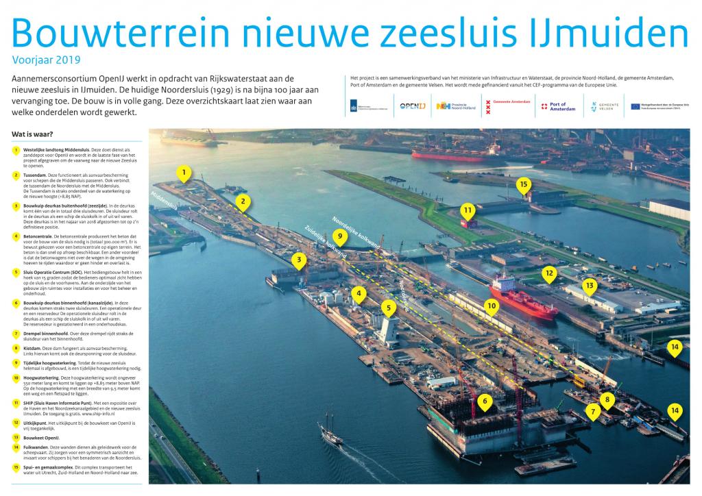 Bouwterrein Zeesluis IJmuiden. Foto, RWS.