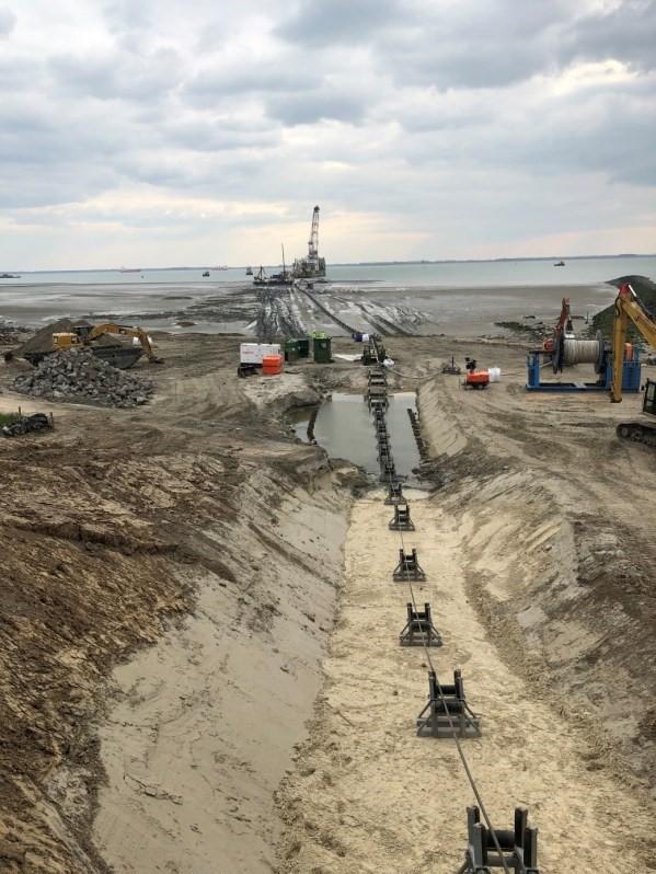 Eerste kabelaansluiting Borssele beriekt Foto TenneT