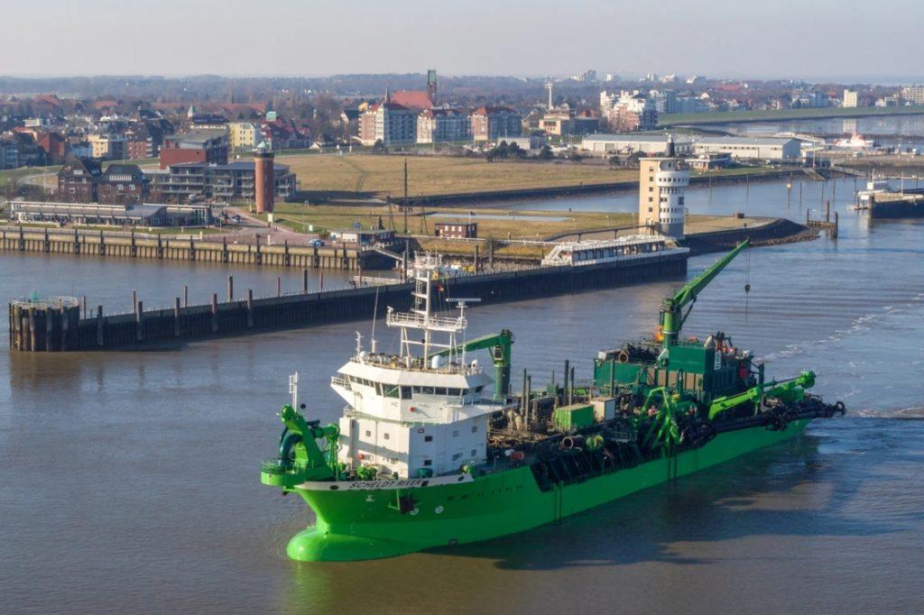 Sleephopperzuiger 'Scheldt River'. Foto, Deme