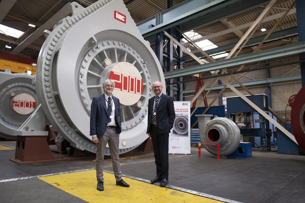Royal IHC levert 2000ste baggerpomp aan jan De Nul.