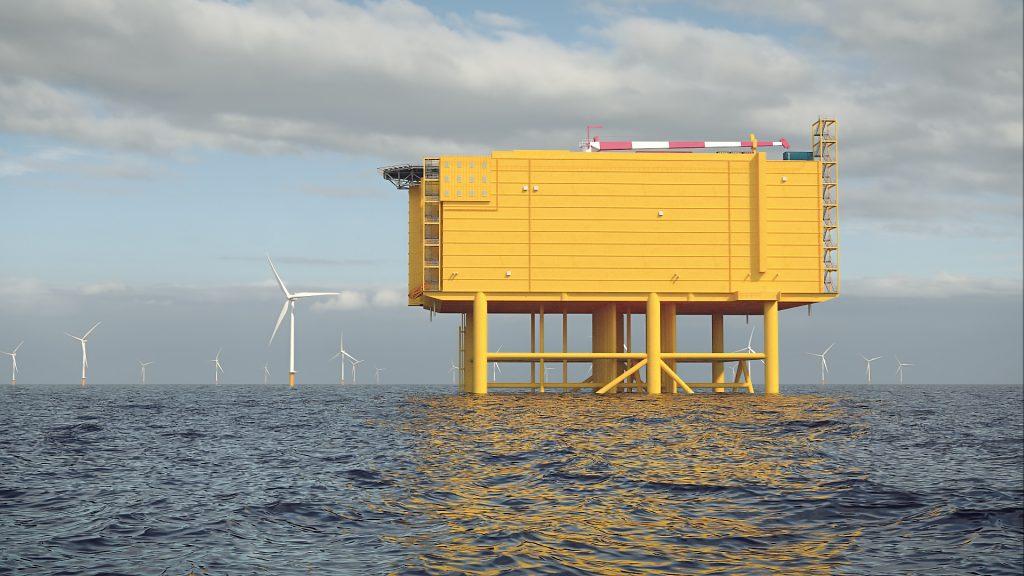 IJmuiden Ver offshore converter station. Foto, TenneT.