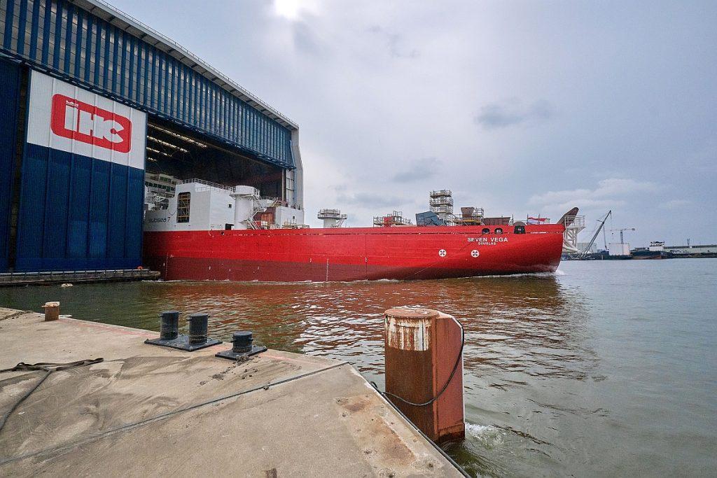 tijdens The Launch of the Seven Vega at Royal IHC op Royal IHC in Krimpen aan den IJssel door Stefan Segers