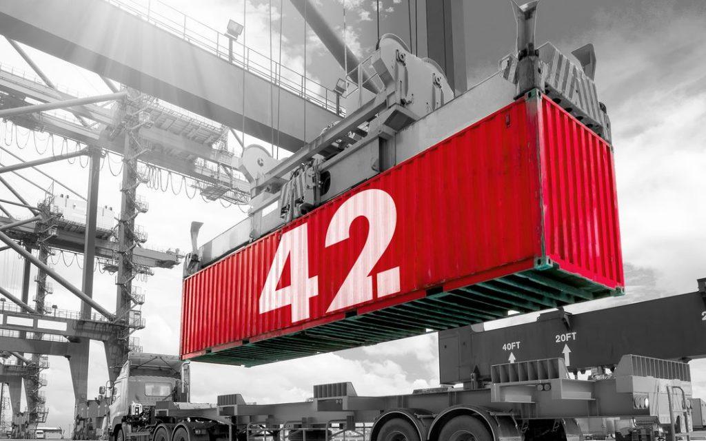 Container 42. Foto, Havenbedrijf Rotterdam