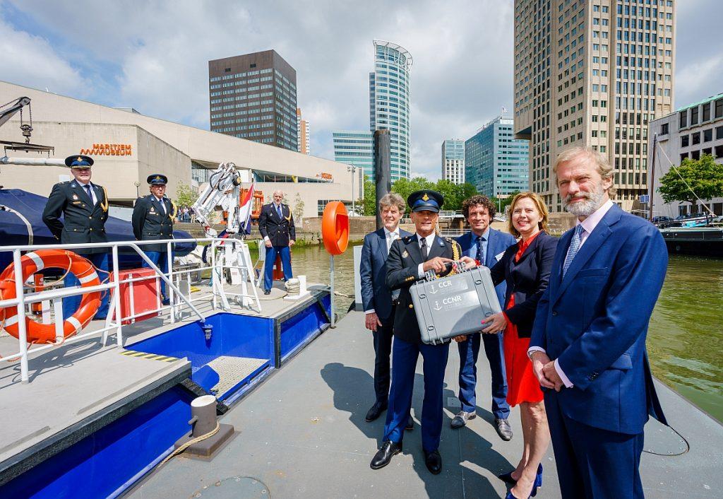 Akte van Mannheim met minister Cora van Nieuwenhuizen, Maritiem Museum, 22 mei 2019. Foto Marco De Swart