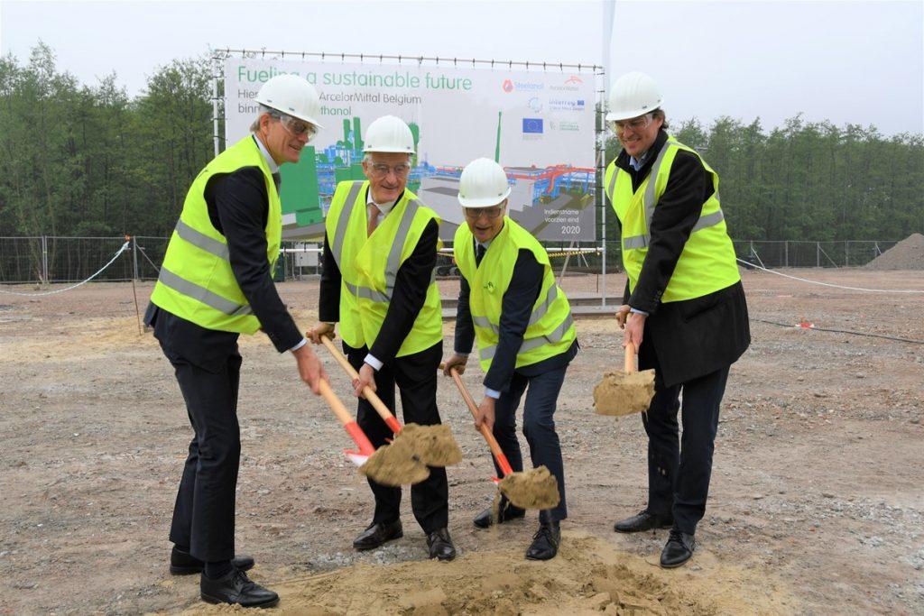 Bouw van duurzame installatie ArcelorMittal in Gent gestart Foto North Sea Port