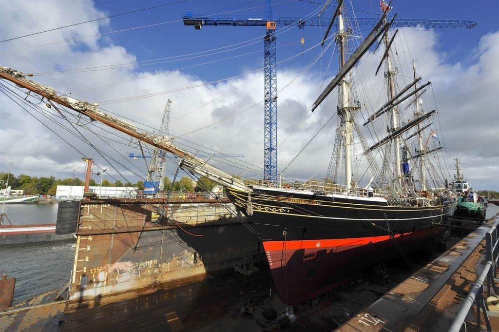 Clipper Stad Amsterdam bij Damen Shiprepair Oranjewerf. Foto, Damen.