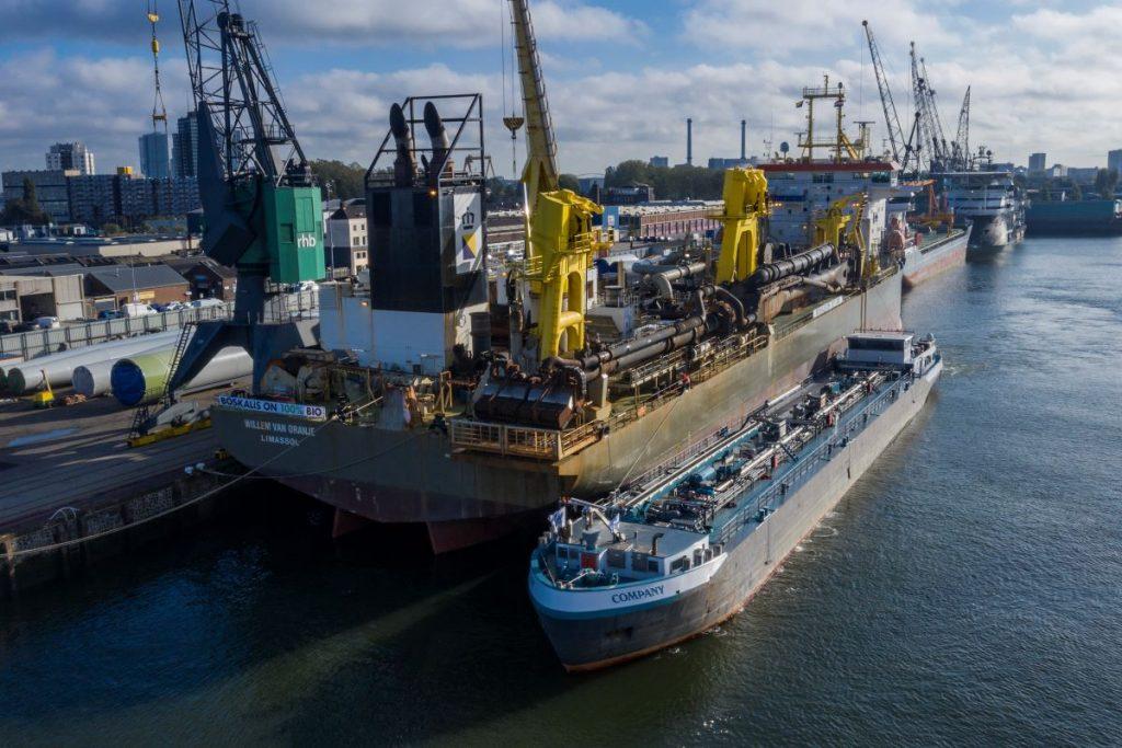 Baggerschip Willem van Oranje bunkering biofuel Foto Boskalis 18-10-2019