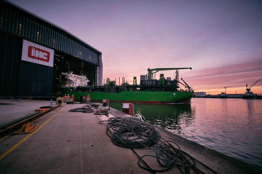 tijdens Meuse River TWL op Royal IHC in Krimpen aan den IJssel door Stefan Segers