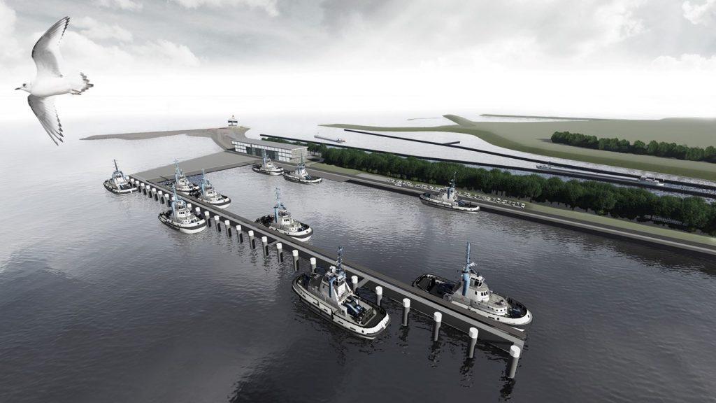 Dienstenhaven bij Nieuwe Sluis Terneuzen artist impression North Sea Port