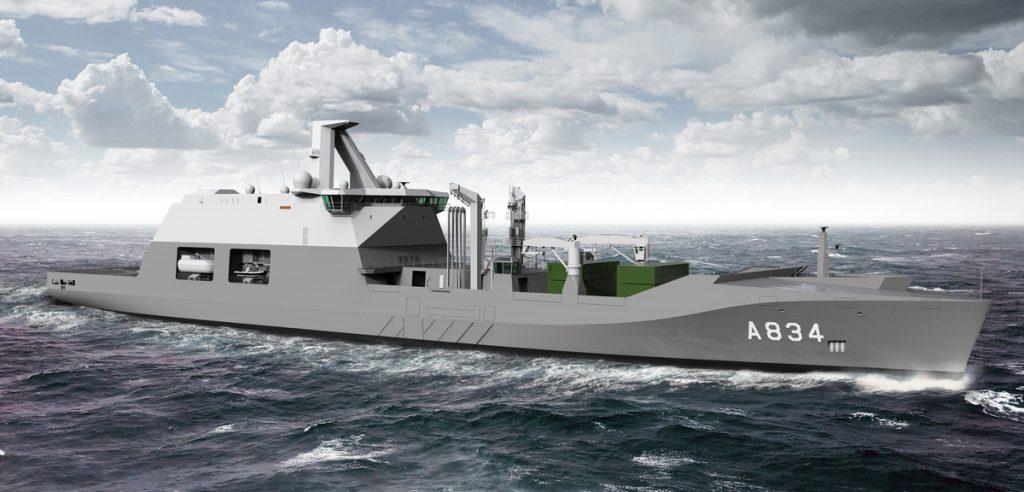 Artist impression van Combat Support Ship Damen