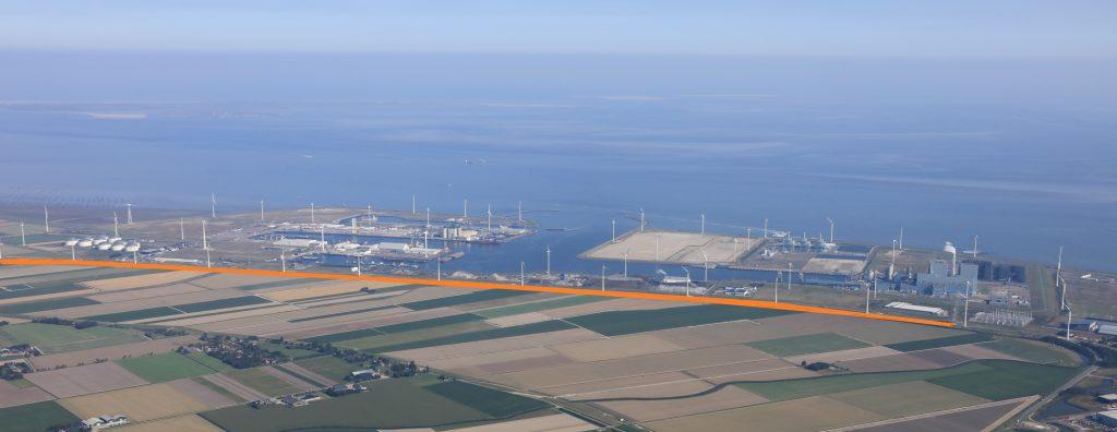 Zonnedijk Eemshaven. Foto Groningen Seaports