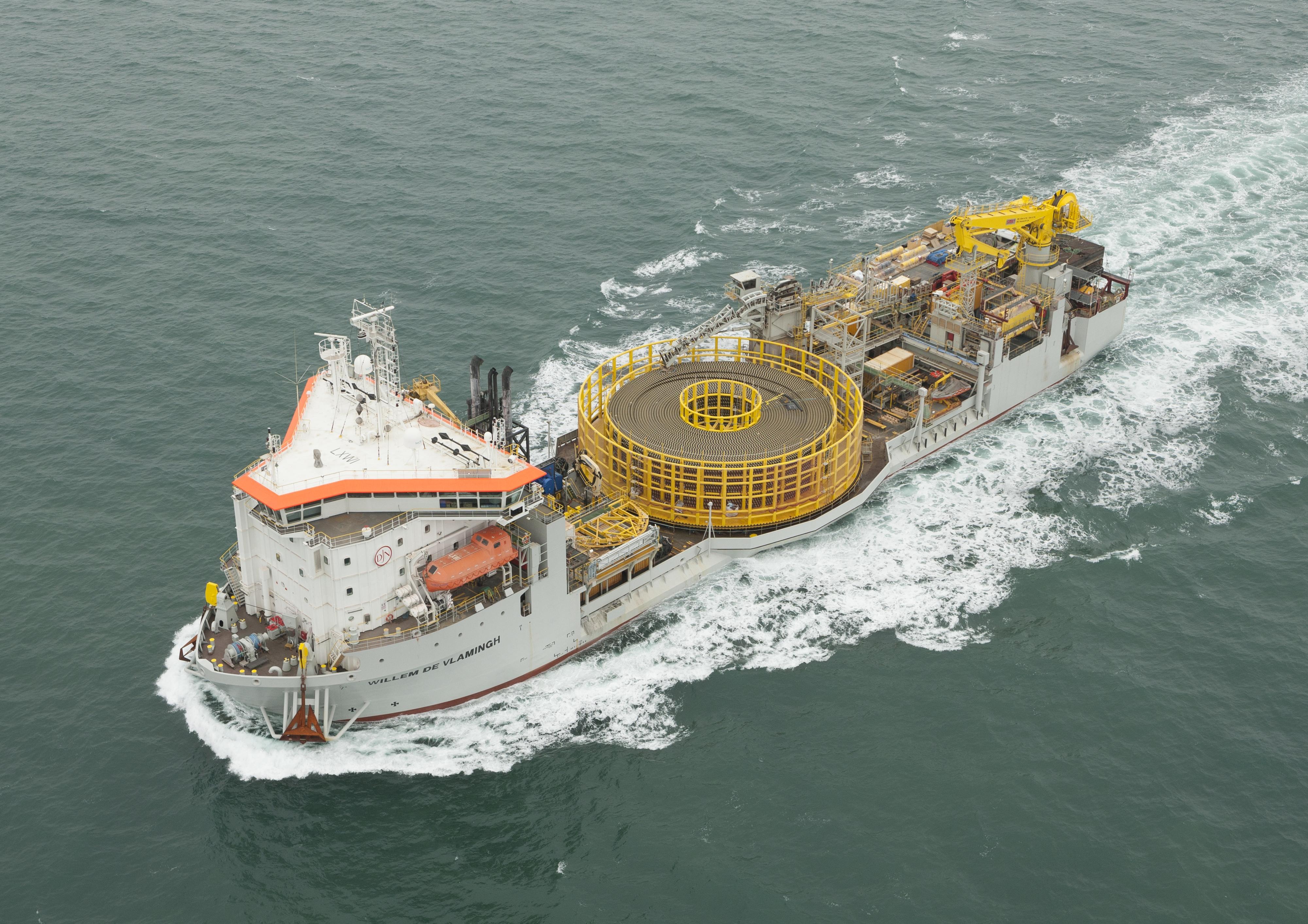 Willem de Vlamingh is een multipurpose schip van Jan de Nul Group.