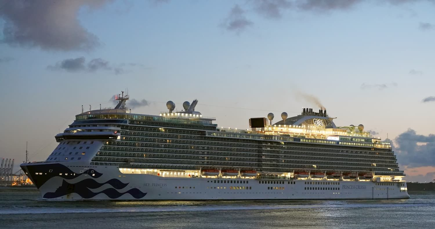 Cruiseschip Sky Princess. Foto, Kees Torn