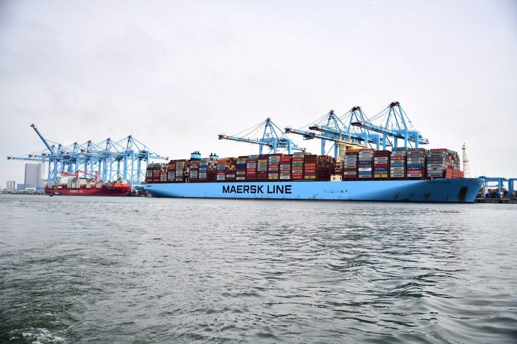 Containerschip Marseille Maersk. Foto, Danny Cornelissen.
