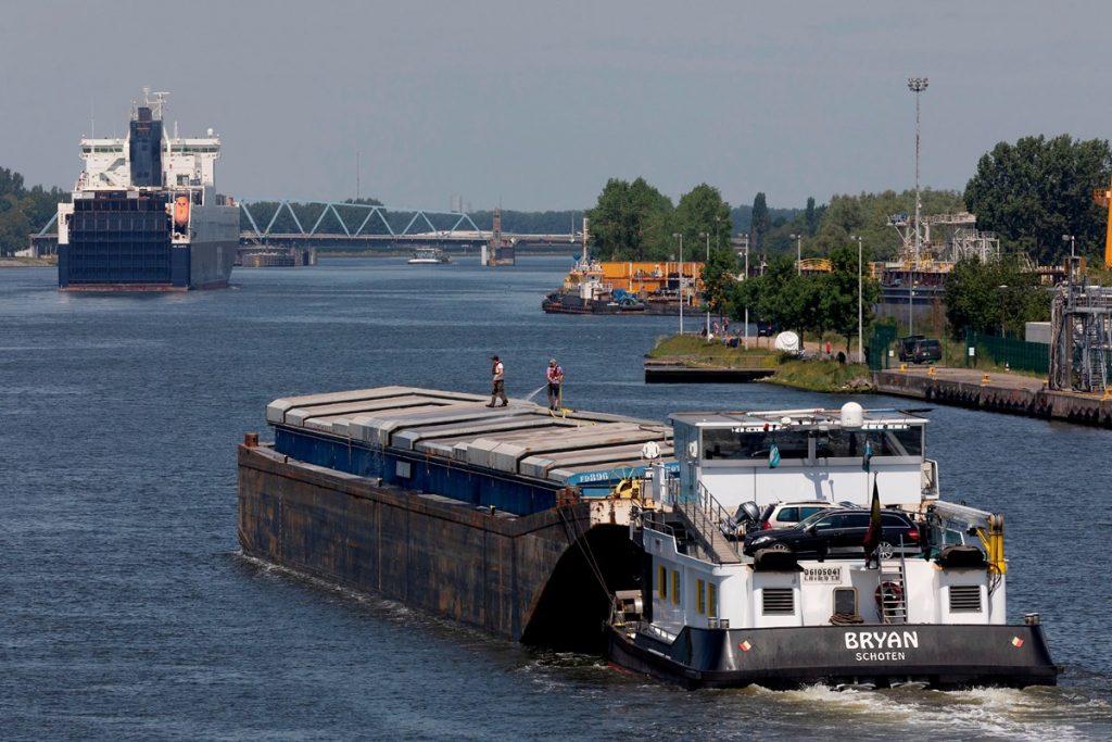 Subsidie voor duwbaktrackers. Foto, North Sea Port