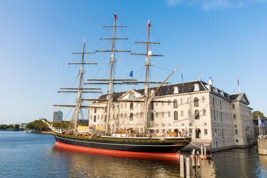 De 'Stad Amsterdam' bij Het Scheepvaartmuseum. Foto, Het Scheepvaartmuseum.
