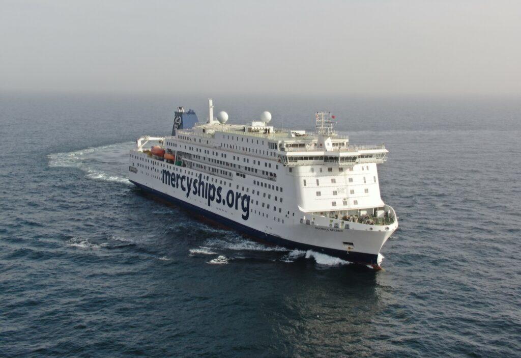 'Global Mercy' during sea trials. Photo, Stena RoRo.