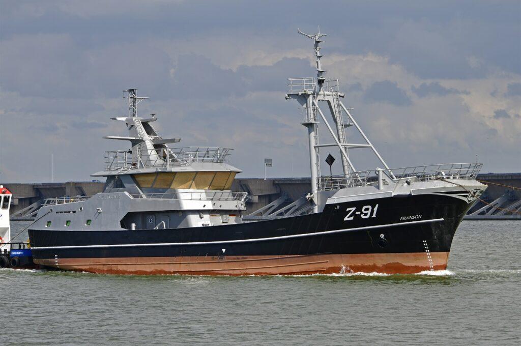 Z91 Franson Mijlpaal voor Damen Maaskant bij bouw kotter voor Rederij Long Ships Foto Damen Maaskant
