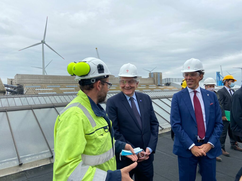 Jacques Vandermeiren and Thierry Breton at Port of Antwerp Qpinch 5 25-6-2021