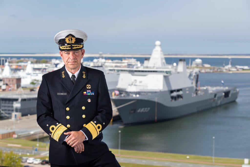 Vice-admiraal René Tas nieuwe Commandant Zeestrijdkrachten. Foto, Defensie.