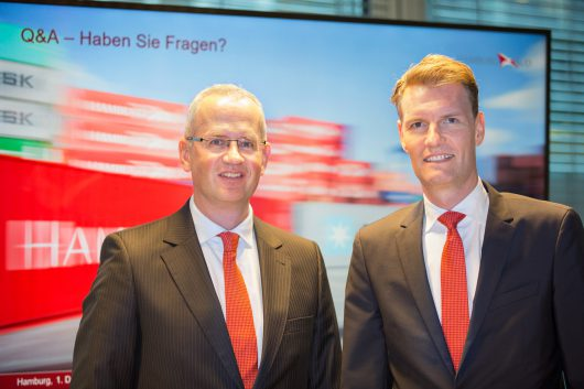 Arnt Vespermann, CEO Hamburg Süd and Søren Toft, COO of A.P. Moller - Maersk