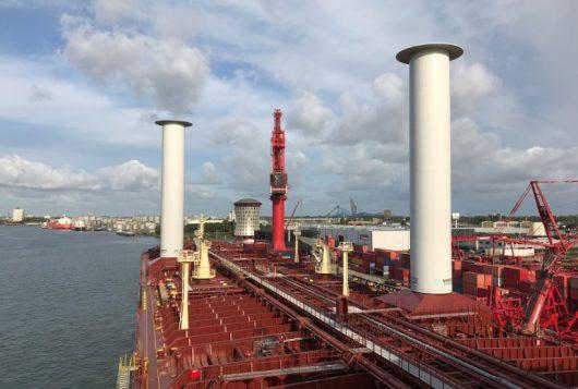 Rotor Sails on board Maersk pelican
