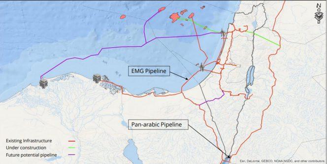 Noble, Delek buy stake in gas pipeline between Israel and Egypt